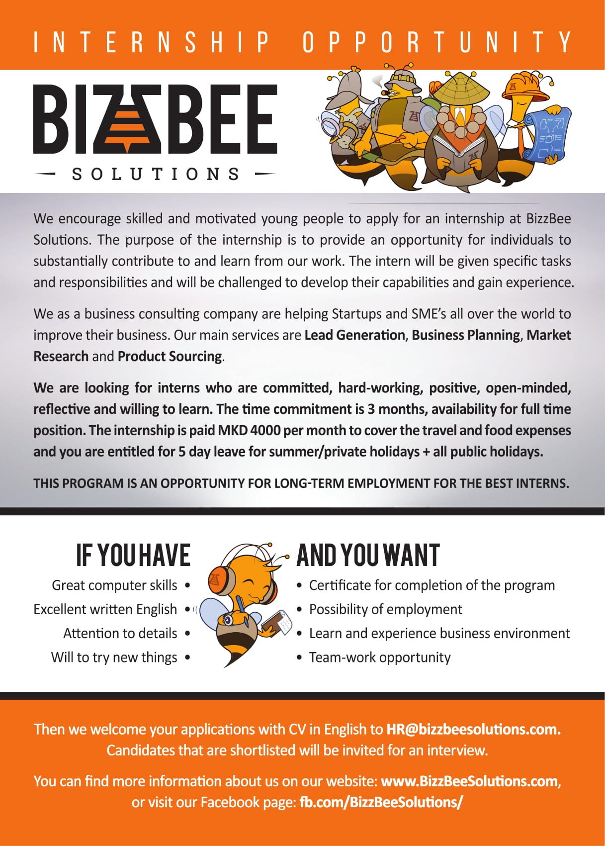 Internship at BizzBee Solutions