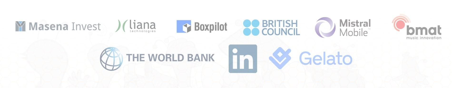 BizzBee Portfolio LinkedIn BMat World Bank Mistral Mobile Masena Invest BoxPilot British Council Liana Technologies Gelato