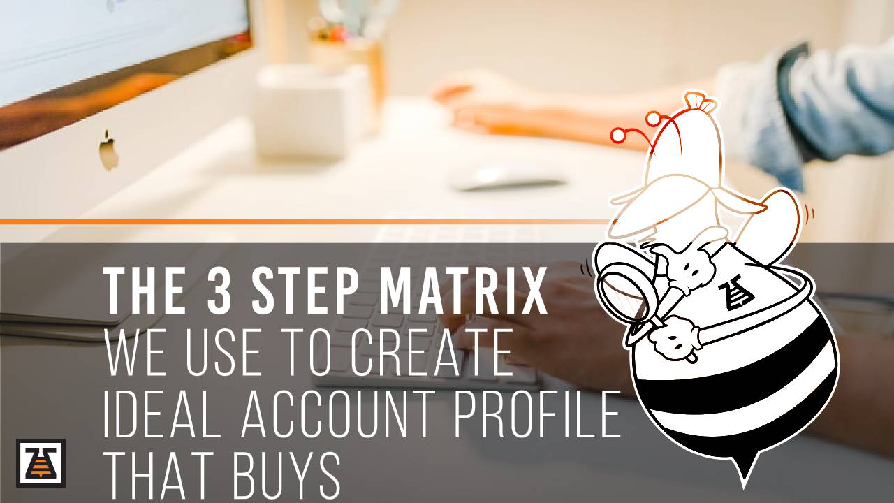 The 3 Step Matrix We Use To Create Ideal Account Profile That Buys