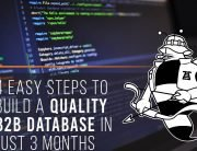 4 Easy Steps to Build A Quality B2B Database In Just 3 Months