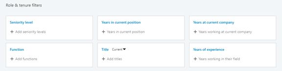 LinkedIn Sales navigator filters for B2B Ideal Client profile