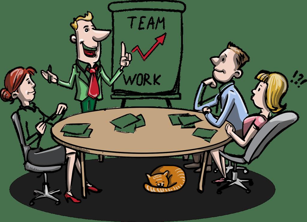 Team work image, meeting