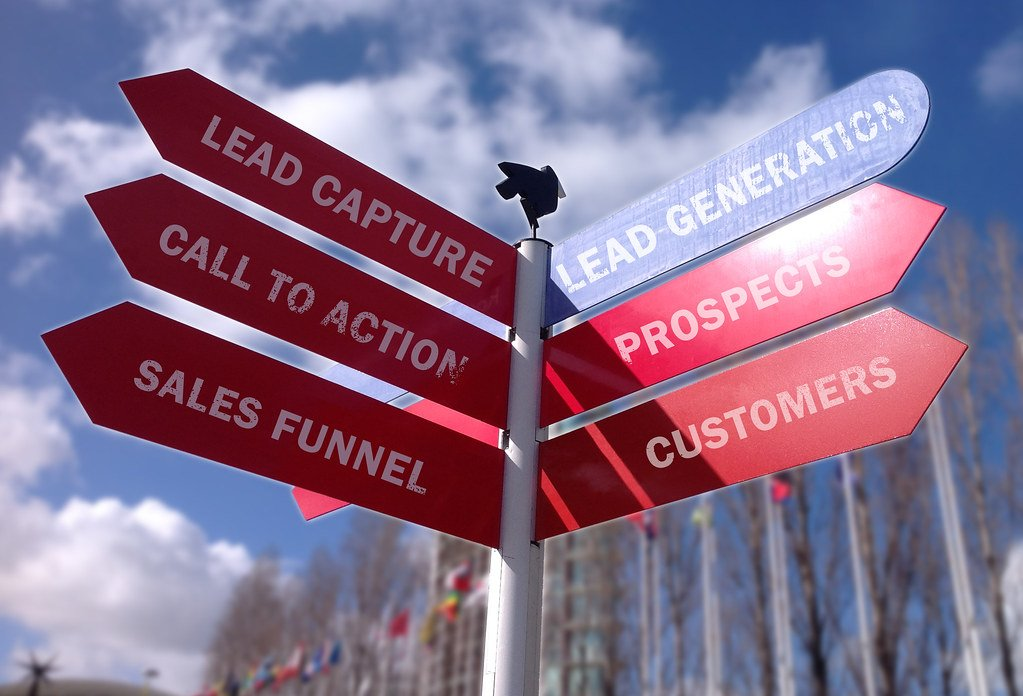Lead Generation Road sign