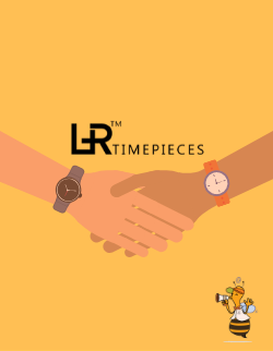 Cover for L&R Timepieces, two people are shaking hands.