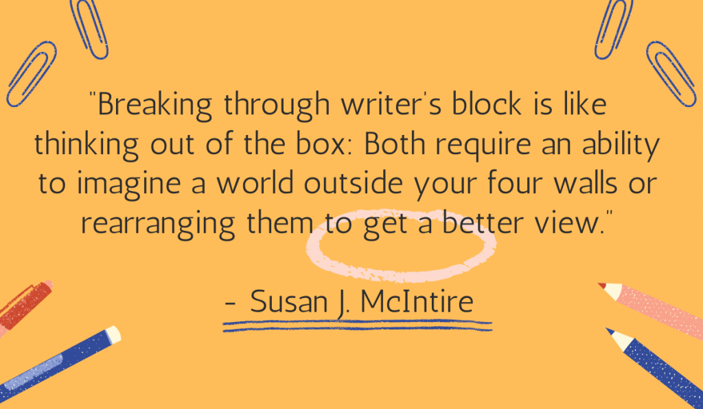 Copywriting tip on writers' block