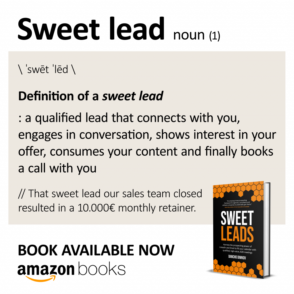 The definition of sweet leads